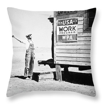Field Office Of The Wpa Government Agency Throw Pillow