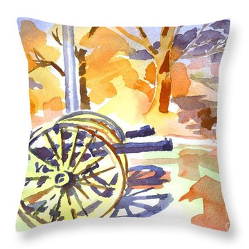 Field Rifles In Watercolor Throw Pillow by Kip DeVore