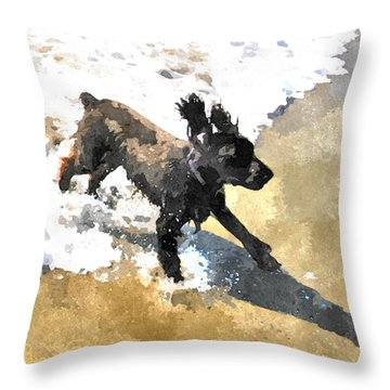 Field Spaniel Joy Throw Pillow