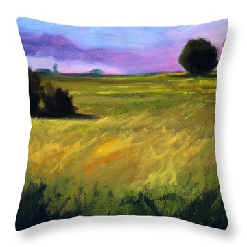 Field Textures Throw Pillow