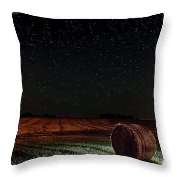 Fields At Night Throw Pillow