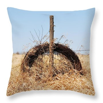 fields That Feed Throw Pillow by Jerry Cordeiro