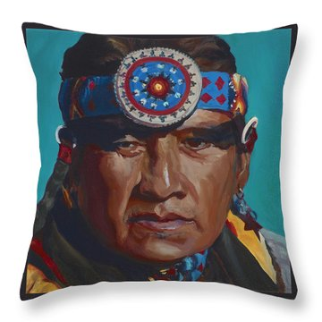 Fierce Eagle Throw Pillow