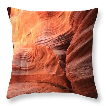 Fiery Bend Throw Pillow