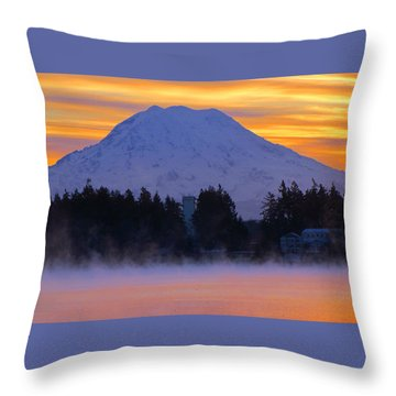 Fiery Dawn Throw Pillow by Tikvah's Hope