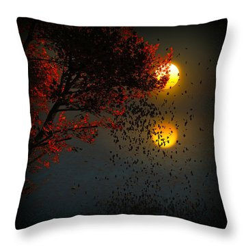 Fiery Fall... Throw Pillow