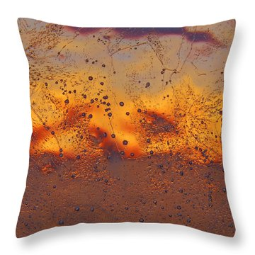 Fiery Horizon Throw Pillow by Sami Tiainen