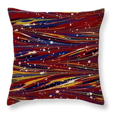 Fiery Lava Flow Abstract Throw Pillow by Karon Melillo DeVega