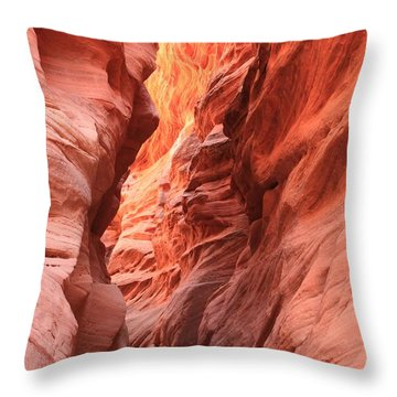 Fiery Narrows Throw Pillow