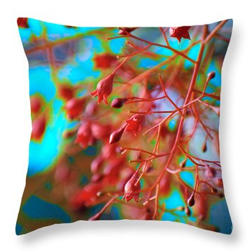 Fiery Red Clusters - Illawarra Flame Tree Throw Pillow