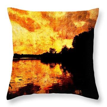 Fiery Sunset Throw Pillow by Randi Kuhne