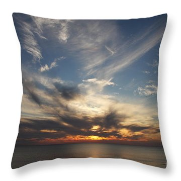 Throw Pillow featuring the photograph Fiery Sunset Skys by Christiane Schulze Art And Photography