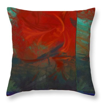 Fiery Whirlwind Onset Throw Pillow by CR Leyland