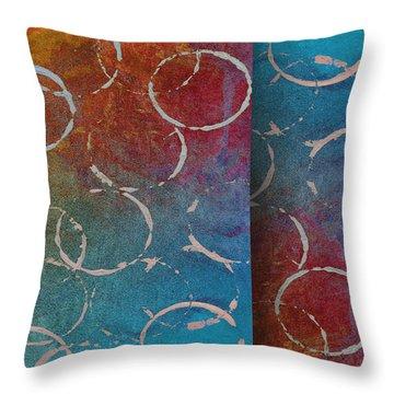 Fiesta -abstract -art Throw Pillow by Ann Powell