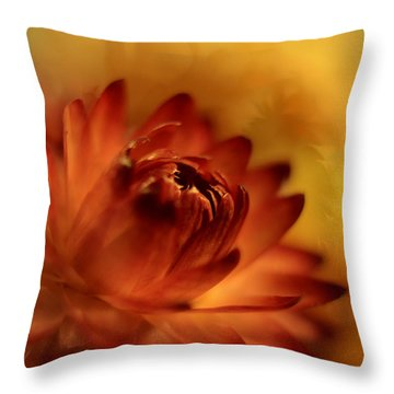 Fiery Throw Pillow