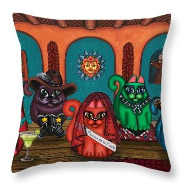 Fiesta Cats II Throw Pillow