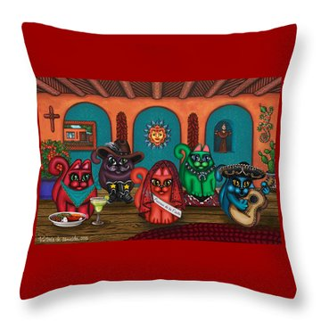 Fiesta Cats II Throw Pillow