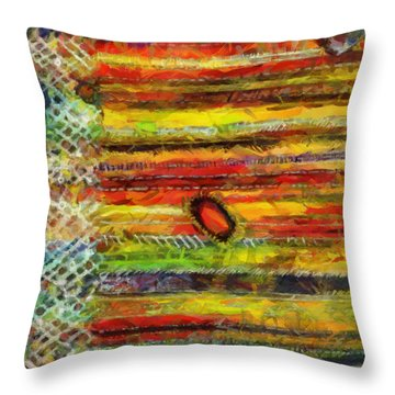 Throw Pillow featuring the painting Fiesta  by Georgi Dimitrov