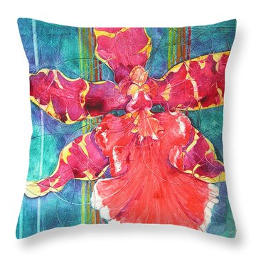 Fiesta Orchid Throw Pillow