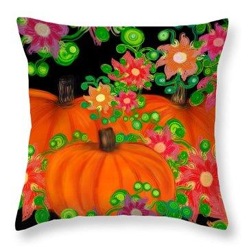 Fiesta Pumpkins Throw Pillow