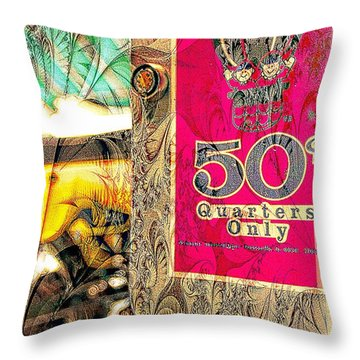 Throw Pillow featuring the photograph Fifty Cents by Bob Pardue