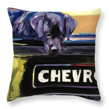 Fifty One Throw Pillow by Molly Poole