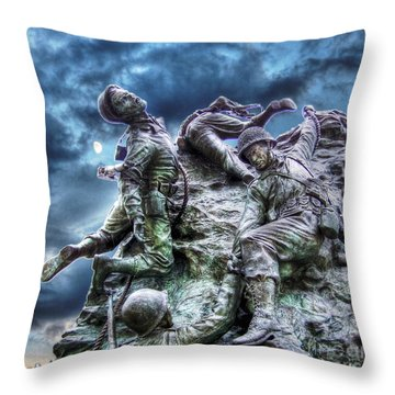Fight On Throw Pillow by Dan Stone