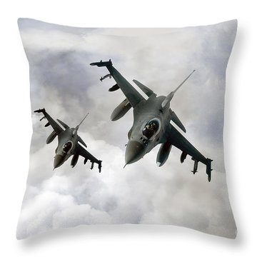 Fighting Falcons Throw Pillow