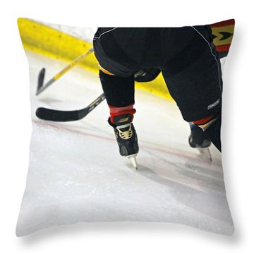 Fighting For The Puck Throw Pillow by Shoal Hollingsworth