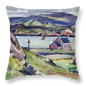 Figure And Kirk   Iona Throw Pillow by Francis Campbell Boileau Cadell