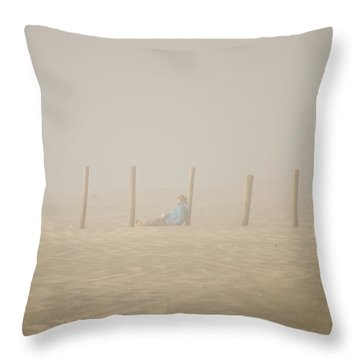 Figure In The Fog Throw Pillow