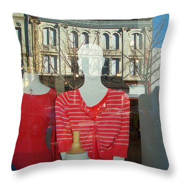 Figure In Window By Jan Marvin Throw Pillow