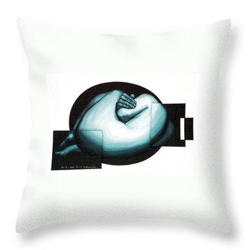 Figure Untitled No.6 Throw Pillow