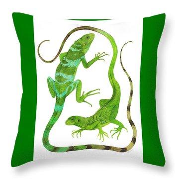 Fijian Iguanas Throw Pillow