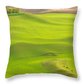 Fileds Of The Palouse Throw Pillow