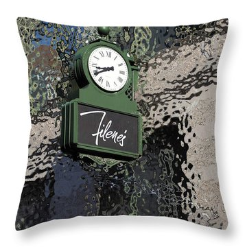 Filene's Boston In Abstract Throw Pillow by Caroline Stella