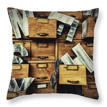 Filing System Throw Pillow