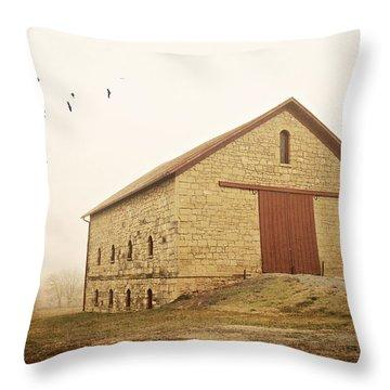 Filley Stone Barn 1 Throw Pillow