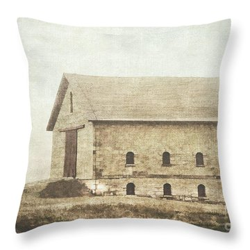 Filley Stone Barn Throw Pillow