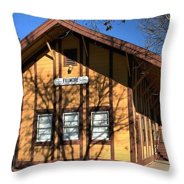Throw Pillow featuring the photograph Fillmore Station by Michael Gordon