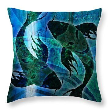 Throw Pillow featuring the digital art Film At 11 by Kenneth Armand Johnson