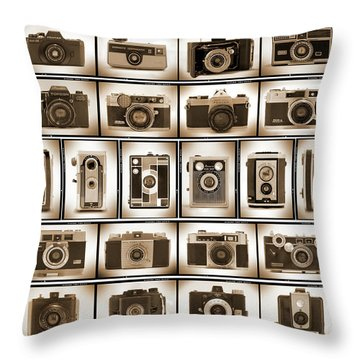 Film Camera Proofs Throw Pillow