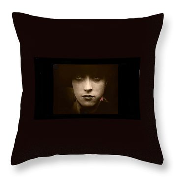 Film Homage Billy Bitzer Miriam Cooper Intolerance 1916 Screen Capture Color Added 2012 Throw Pillow by David Lee Guss