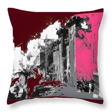 Film Homage D.w. Griffith Intolerance 1916 Fall Of Babylon 1916-2012  Throw Pillow by David Lee Guss