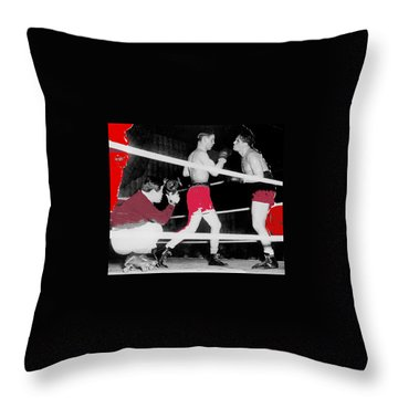 Film Noir Cinematographer James Wong Howe John Garfield Body And Soul 1947 Color Added 2013 Throw Pillow