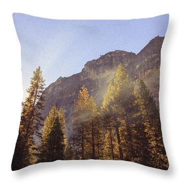 Morning Skies Of Yosemite Throw Pillow