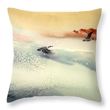 Throw Pillow featuring the painting Fin De Siecle by Ed  Heaton
