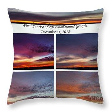 Final 2012 Sunrise Combo Throw Pillow