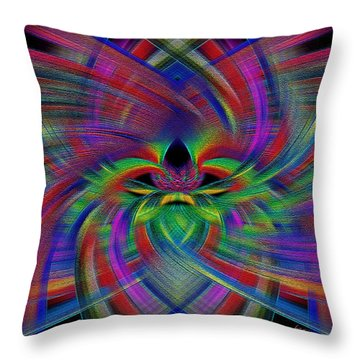 Throw Pillow featuring the mixed media Final Approach by Carl Hunter