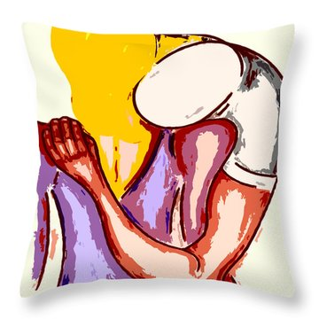 Final Embrace Throw Pillow by Patrick J Murphy